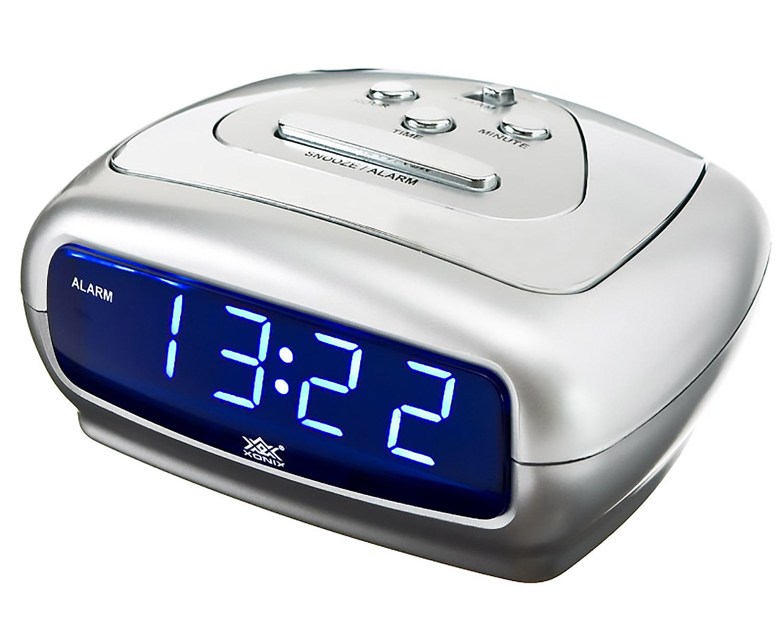 small alarm clock xonix snooze sharp digital led. Black Bedroom Furniture Sets. Home Design Ideas