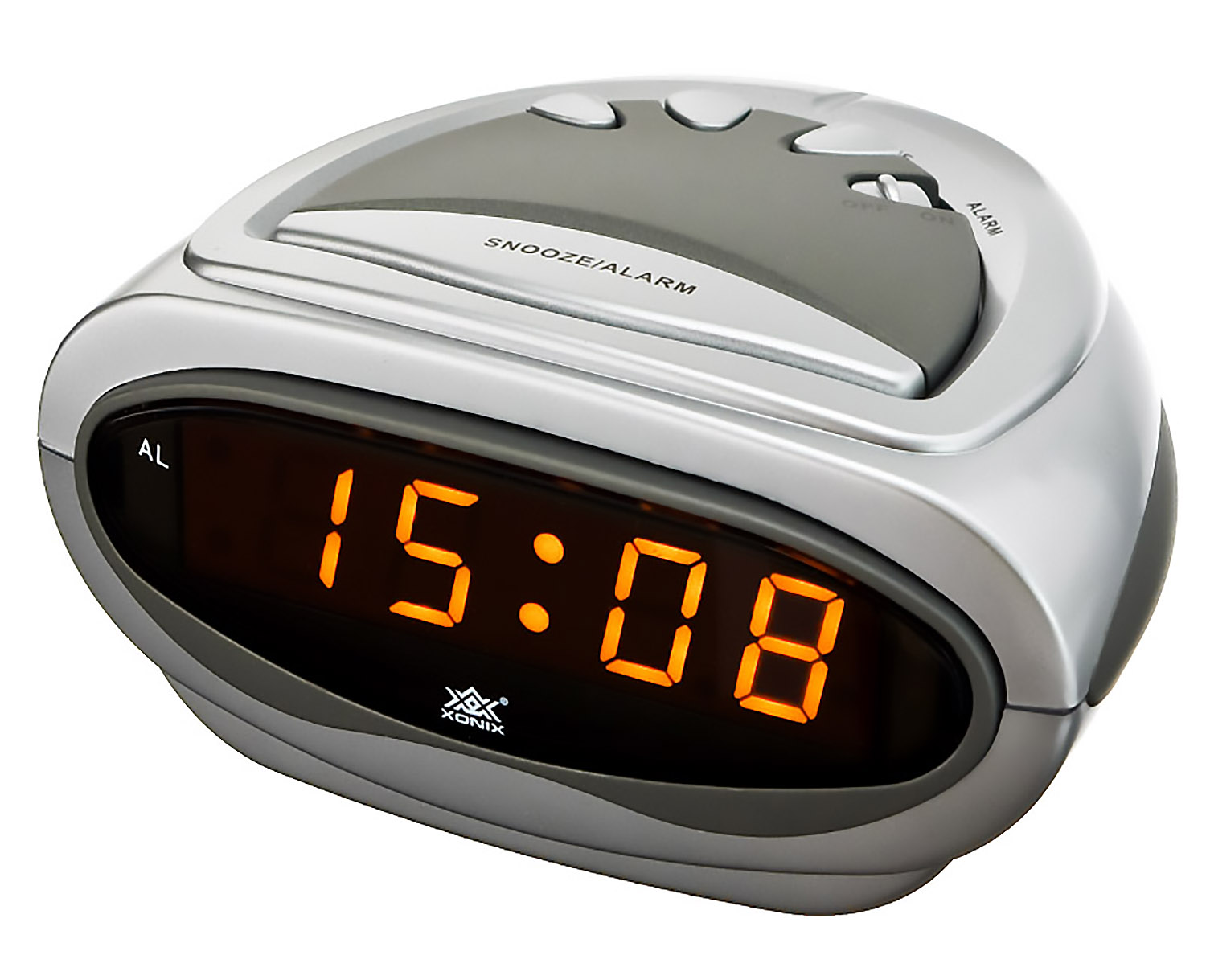 digital alarm clock xonix snooze mains power auxiliary baterry ebay. Black Bedroom Furniture Sets. Home Design Ideas