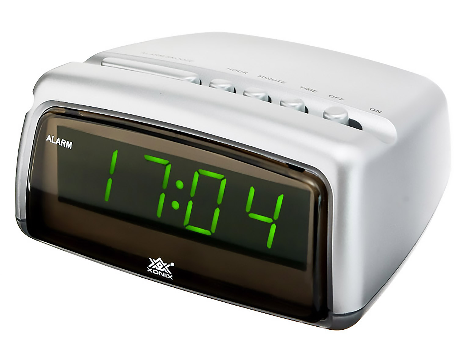 modern alarm clock xonix snooze digital led display mains power ebay. Black Bedroom Furniture Sets. Home Design Ideas