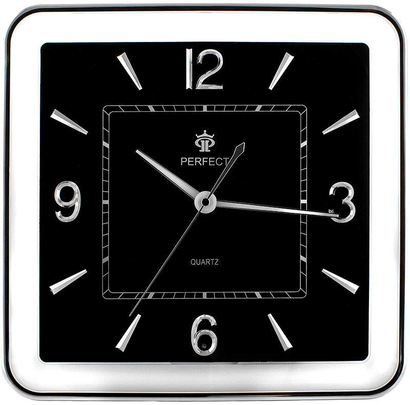 Square Wall Clock Perfect Silent Sweep Automatic